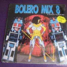 Discos de vinilo: BOLERO MIX 8 DOBLE LP BLANCO Y NEGRO 1991 PRECINTADO - ELECTRONICA TECHNO MAKINA HOUSE. Lote 210275403