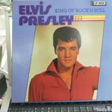 Discos de vinilo: ELVIS PRESLEY CAJA BOX CON 3 LP'S KING OF ROCK'N ROLL. Lote 210302975