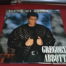 Discos de vinilo: VINILO MAXI SINGLE 45 RPM, STEREO ( GREGORY ABBOTT ‎– YOU'RE MY ANGEL ) 1986 CBS FUNK / SOUL. Lote 210309508