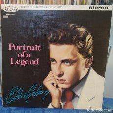 Discos de vinilo: EDDIE COCHRAN. PRECIOSO LP DE VINILO TITULADO: PORTRAIT OF A LEGEND.. Lote 210313150