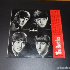 Discos de vinilo: THE BEATLES --ROLL OVER BEETHOVEN & I WANNA BE YOUR MAN +2 LABEL AZUL FUERTE ( MINT OR ( M- ). Lote 210322518