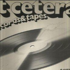 Discos de vinilo: ET CETERA LP SAMPLER COVERS PARA REGALAR. Lote 210323325
