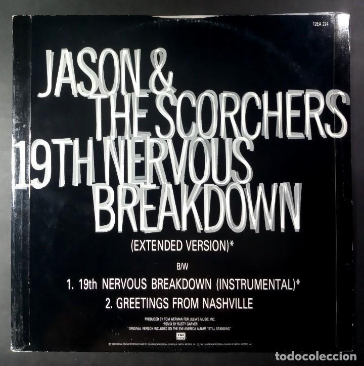 Discos de vinilo: JASON & THE SCORCHERS - 19th Nervous Breakdown / greetings - UK MAXI 1986 - EMI AMERICA - Foto 2 - 210323898
