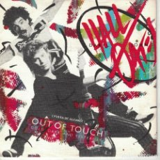 Dischi in vinile: DARYL HALL AND JOHN OATES - OUT OF TOUCH / COLD DARK AND YESTERDAY (SINGLE PROMO ESPAÑOL, RCA 1984). Lote 210325325