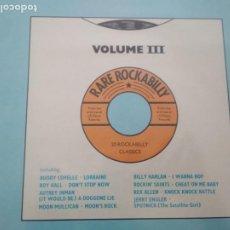 Discos de vinilo: RARE ROCKABILLY VOLUME III LP VARIOS ROCKABILLY. Lote 210325936