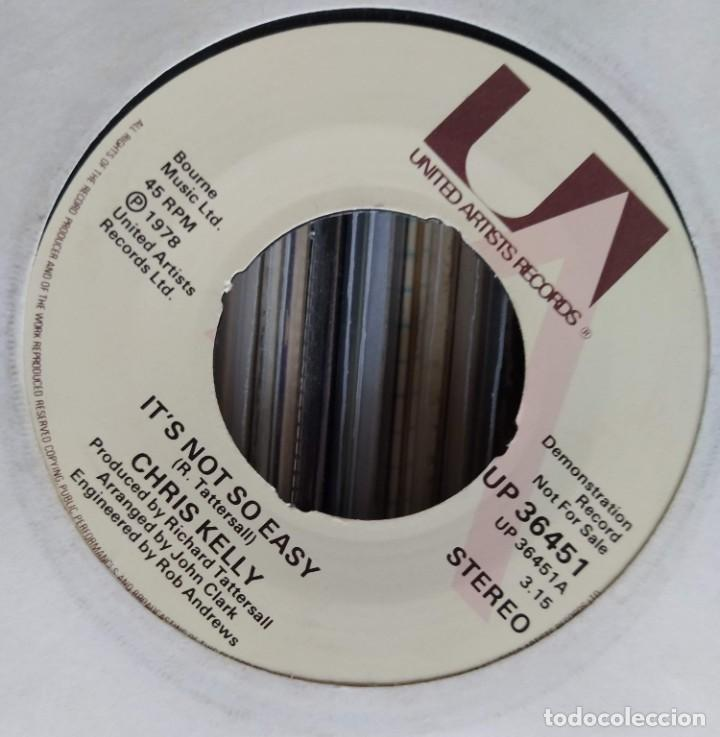 "Discos de vinilo: Chris Kelly - Its Not So Easy (7"", Single, Promo) United Artists Records (D:VG+) - Foto 2 - 210329145"