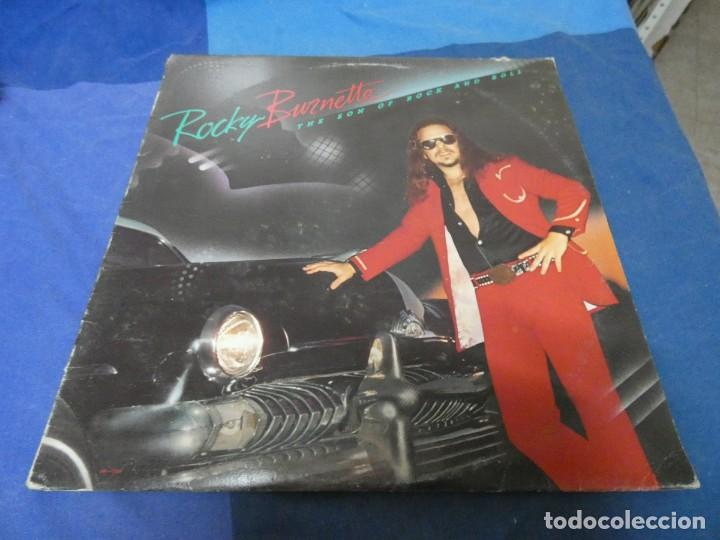 LP ROCKY BURNETTE THE SON OF ROCK AND ROLL USA 1980 BUEN ESTADO (Música - Discos - LP Vinilo - Pop - Rock - Extranjero de los 70)