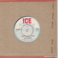 Discos de vinilo: EDDY GRANT - I DON'T WANNA DANCE / ACAPELLA VERSION (SINGLE INGLES, ICE RECORDS 1982). Lote 210336337
