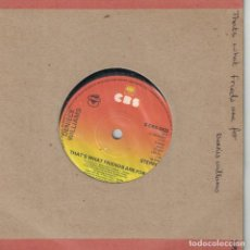 Discos de vinilo: DENIECE WILLIAMS - THAT'S WHAT FRIENDS ARE FOR / WATCHING OVER (SINGLE INGLES, CBS 1976). Lote 210338338