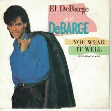 Discos de vinilo: DEBARGE - YOU WEAR IT WELL / BABY WON'T CHA COME QUICK (SINGLE PROMO ESPAÑOL, MOTOWN 1985). Lote 210339322