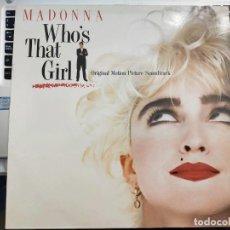 Discos de vinilo: MADONNA - WHO'S THAT GIRL (ORIGINAL MOTION PICTURE SOUNDTRACK) (LP, ALBUM) SELLO:SIRE CAT. Nº: 92561. Lote 210340345