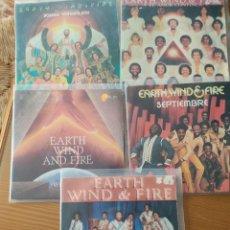 Discos de vinilo: LOTE DE 5 DISCOS DE VINILO SINGLES EARTH,WIND AND FIRE. Lote 210340637