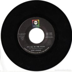 Discos de vinilo: EDDIE HOLMAN IT'S ALL IN THE GAME / HEY THERE LONELY GIRL 1969 USA SINGLE R&B SOUL. Lote 210347817