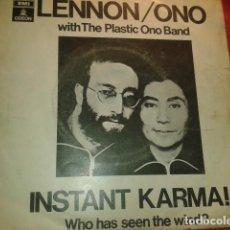 Discos de vinilo: 6 DISCOS DE 45 R.P.M.LENNON THE BEATLES BANGLA DESH GEORGE HARRISON ONPLASTIC ONE BAND. Lote 210351110