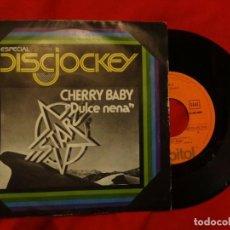 """Discos de vinilo: 7"""" STARZ CHERRY BABY (DULCE NENA) - 1977 - SINGLE - CAPITOL 10C 006-85.268 (VG++/EX). Lote 210351878"""
