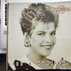 Discos de vinilo: C.C. CATCH - LIKE A HURRICANE (LP, ALBUM) 1987. SELLO:HANSA, ARIOLA, 208687, 5C 208687. Lote 210352400
