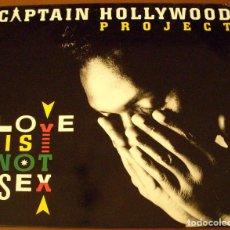 """Discos de vinilo: LP EN VINILO : CAPTAIN HOLLYWOOD PROJECT """" LOVE IS NOT SEX """". Lote 210358365"""