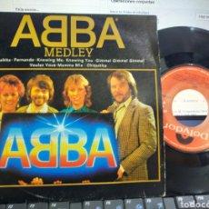 Discos de vinilo: ABBA SINGLE PROMOCIONAL MEDLEY ESPAÑA 1992. Lote 210370318