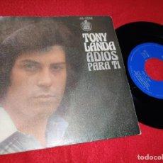 Discos de vinilo: TONY LANDA ADIOS/PARA TI 7'' SINGLE 1976 HISPAVOX LOS MITOS. Lote 210383172