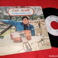 Discos de vinilo: LUIS AGUILE EL TELEFONO LLAMABA/VIENTO 7'' SINGLE 1982 COLUMBIA PROMO. Lote 210383671