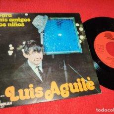 Discos de vinilo: LUIS AGUILE PINOCHO/MANUELITA 7'' SINGLE 1971 SHOWMAN PARA MIS AMIGOS LOS NIÑOS GATEFOLD. Lote 210383863