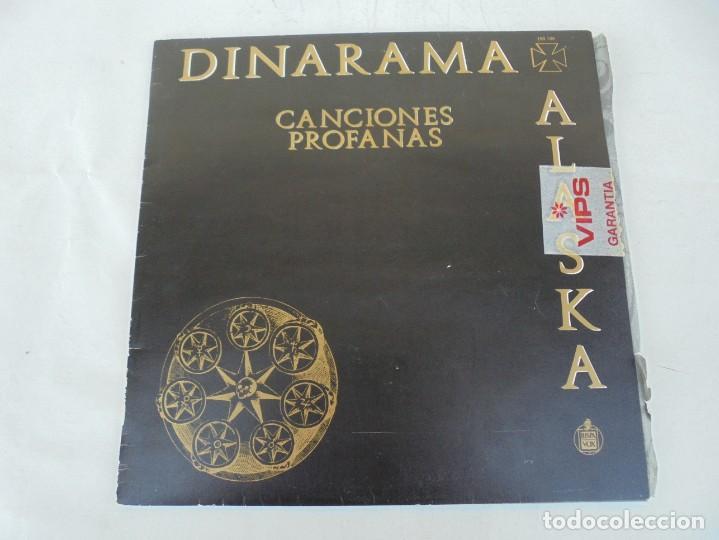 Discos de vinilo: DINARAMA. CANCIONES PROFANAS. ALASKA. LP VINILO HISPAVOX 1983. - Foto 2 - 210391332