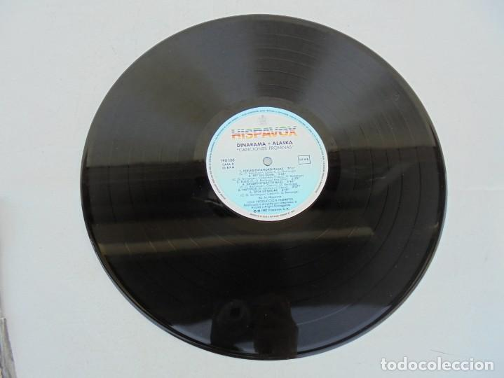 Discos de vinilo: DINARAMA. CANCIONES PROFANAS. ALASKA. LP VINILO HISPAVOX 1983. - Foto 3 - 210391332