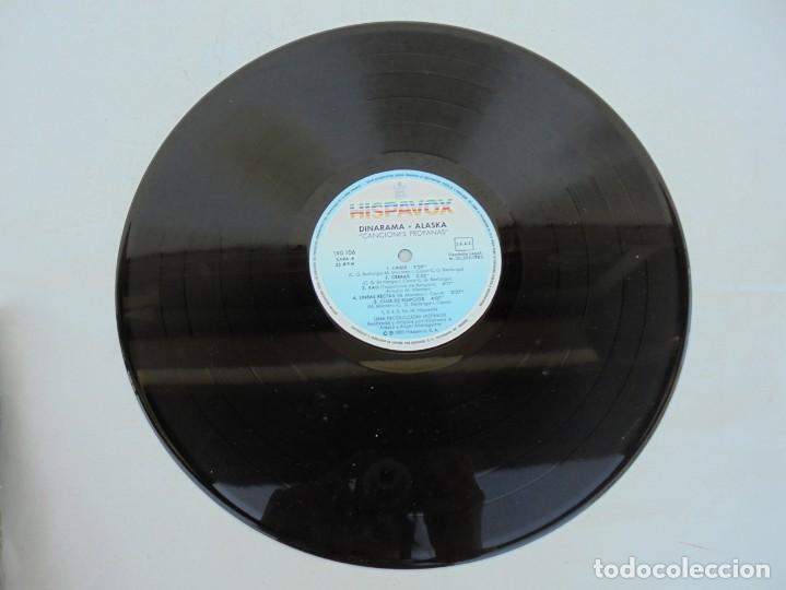 Discos de vinilo: DINARAMA. CANCIONES PROFANAS. ALASKA. LP VINILO HISPAVOX 1983. - Foto 5 - 210391332