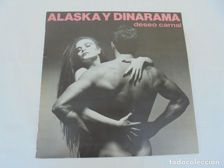 Discos de vinilo: ALASKA Y DINARAMA. DESEO CARNAL. LP VINILO. HISPAVOX 1984 - Foto 2 - 210391948