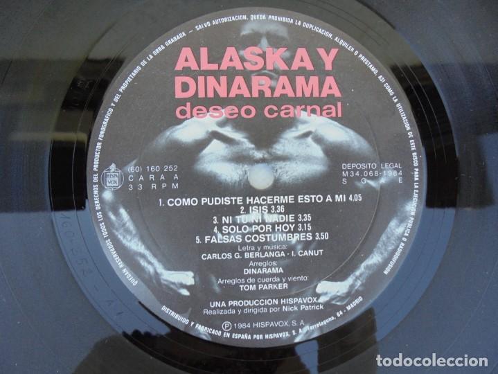 Discos de vinilo: ALASKA Y DINARAMA. DESEO CARNAL. LP VINILO. HISPAVOX 1984 - Foto 7 - 210391948