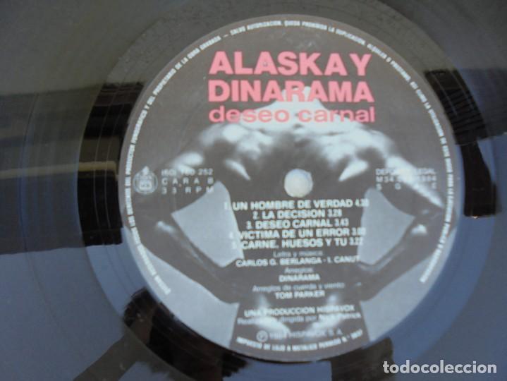 Discos de vinilo: ALASKA Y DINARAMA. DESEO CARNAL. LP VINILO. HISPAVOX 1984 - Foto 9 - 210391948