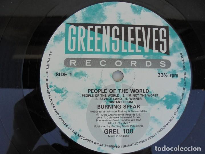 Discos de vinilo: BURNING SPEAR. PEOPLE OF THE WORLD. LP VINILO. GREENSLEEVES RECORDS. 1986 - Foto 6 - 210392652
