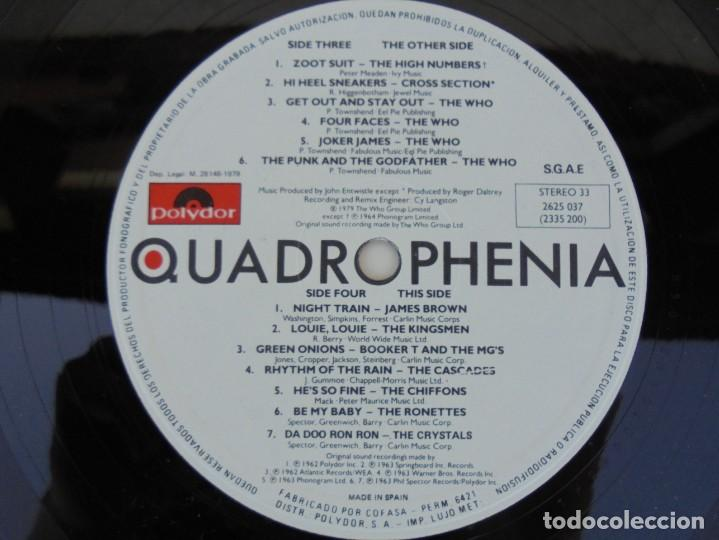 Discos de vinilo: QUADROPHENIA. MUSIC FROM THE SOUNDTRACK OF THE WHO FILM. 2 LP VINILO. POLYDOR 1979. - Foto 6 - 210393101