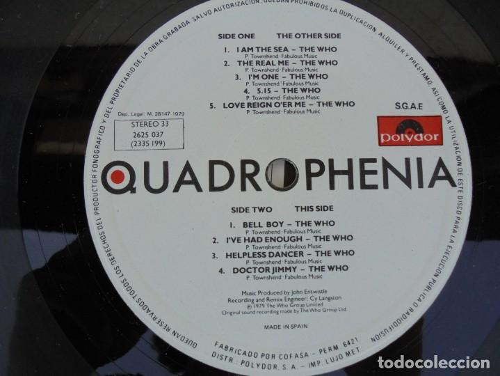 Discos de vinilo: QUADROPHENIA. MUSIC FROM THE SOUNDTRACK OF THE WHO FILM. 2 LP VINILO. POLYDOR 1979. - Foto 13 - 210393101
