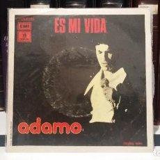 Discos de vinilo: ** ADAMO - ES MI VIDA / LOS CAMPOS EN PAZ - SG AÑO 1975 - MUESTRA PROMOCIÓN - LEER DESCRIPCIÓN. Lote 210400236