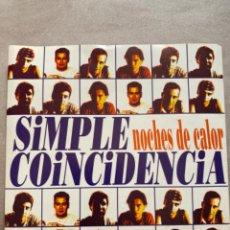 Discos de vinilo: ANTIGUO EP SIMPLE COINCIDENCIA NOCHES DE CALOR. Lote 210403518