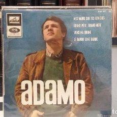 Discos de vinilo: ** ADAMO - MES MAINS SUR TES HANCHES + 3 - EP AÑO 1966 - MADE IN FRANCE - LEER DESCRIPCIÓN. Lote 210403870
