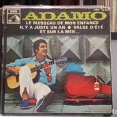Discos de vinilo: ** ADAMO - LE RUISSEAU DE MON ENFANCE + 3 - EP AÑO 1968 - LEER DESCRIPCIÓN. Lote 210404477