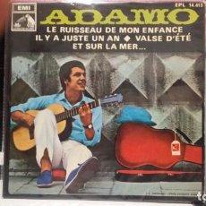 Discos de vinilo: ** ADAMO - LE RUISSEAU DE MON ENFANCE + 3 - EP AÑO 1968 - LEER DESCRIPCIÓN. Lote 210404951