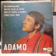 Discos de vinilo: ** ADAMO - EN BANDOULIERE + 3 - EP AÑO 1966 - MUESTRA PROMOCIÓN - LEER DESCRIPCION. Lote 210406516