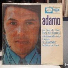 Discos de vinilo: ** ADAMO - J'AI TANT DE RÊVES DANS MES BAGAGES + 3 - EP 1968 - MUESTRA PROMOCION - LEER DESCRIPCION. Lote 210407146