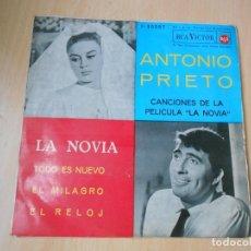 Discos de vinilo: ANTONIO PRIETO, EP, LA NOVIA + 3, AÑO 1962. Lote 210407587