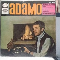 Discos de vinilo: ** ADAMO - UNE MECHE DE CHEVEUX + 3 - EP AÑO 1966 - LEER DESCRIPCIÓN. Lote 210407707
