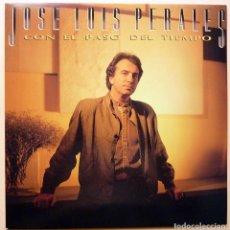 Discos de vinilo: JOSÉ LUIS PERALES: CON EL PASO DEL TIEMPO - LP PROMOCIONAL - CBS - 1986 - CASI NUEVO (NM). Lote 210408367