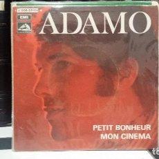 Discos de vinilo: ** ADAMO - PETIT BONHEUR / MON CINEMA - SG AÑO 1969 - LEER DESCRIPCIÓN. Lote 210410466