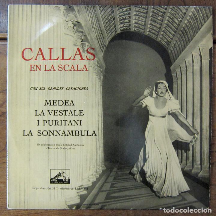 MARIA CALLAS EN LA SCALA - 1958 - MEDEA, LA VESTALE, I PURITANI, LA SONNAMBULA - OPERA, EXTRACTOS (Música - Discos - LP Vinilo - Clásica, Ópera, Zarzuela y Marchas)