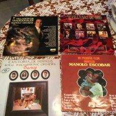 Discos de vinilo: 4 VINILOS DISCOS LP MANOLO ESCOBAR SEVILLANAS CANTORES HISPALIS. Lote 210415900