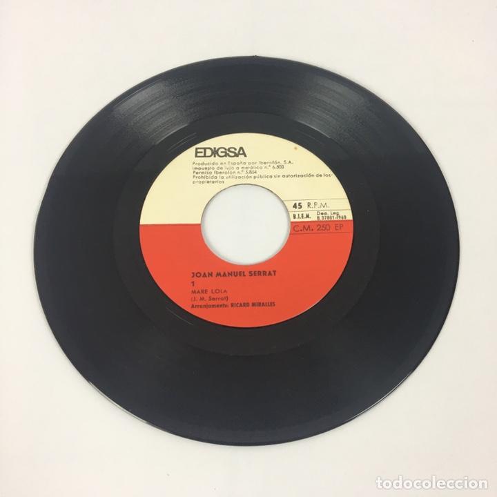 """Discos de vinilo: EP 7"""" - JOAN MANUEL SERRAT - Mare Lola (Edigsa, 1969) - Foto 4 - 210428181"""