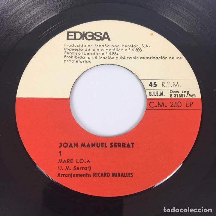 """Discos de vinilo: EP 7"""" - JOAN MANUEL SERRAT - Mare Lola (Edigsa, 1969) - Foto 5 - 210428181"""