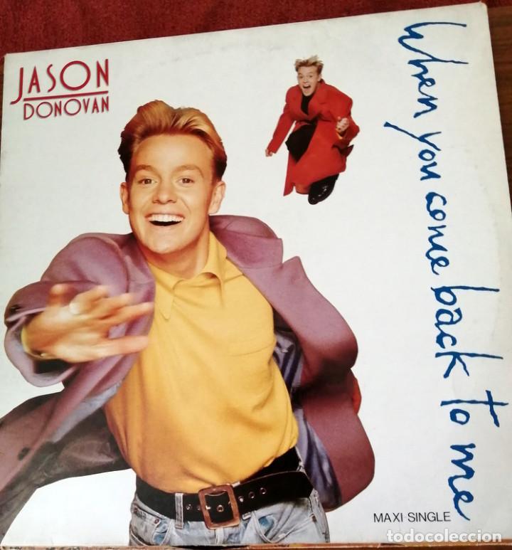 JASON DONOVAN MAXI SINGLE WHEN YOU COME BACK TO ME (Música - Discos de Vinilo - Maxi Singles - Pop - Rock - New Wave Extranjero de los 80)